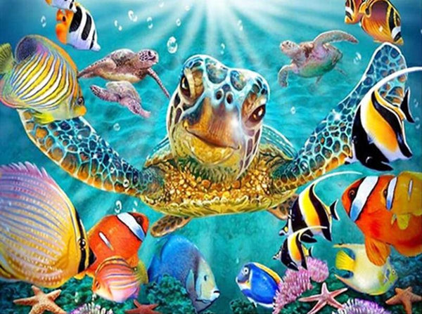 Funny Full Square Drill Turtle 5D DIY Embroidery Diamond Painting Kits NA0892