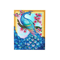 Half Drill Peacock Diamond Painting Kits HD90006