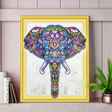 Half Drill Colorful Elephant Diamond Painting Kits HD90011