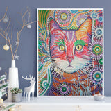 Half Drill Cat Diamond Painting Kits HD90021