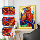 Half Drill Owl Diamond Painting Kits HD90025