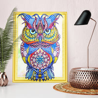 Half Drill Owl Diamond Painting Kits HD90030