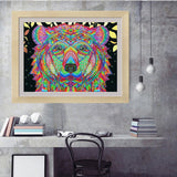 Half Drill Colorful Bear Diamond Painting Kits HD90036