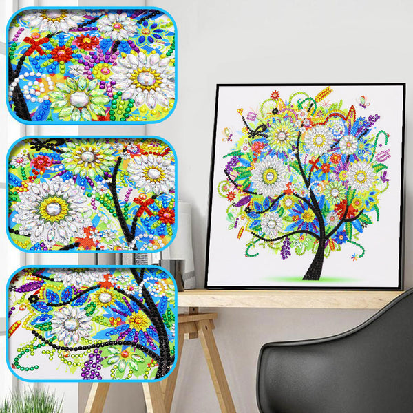 Half Drill Tree Diamond Painting Kits HD90037