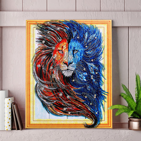Half Drill Lion Diamond Painting Kits HD90041