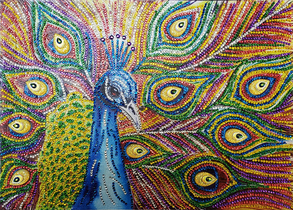 Half Drill Peacock Diamond Painting Kits HD90053