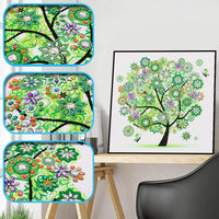 Half Drill Tree Diamond Painting Kits HD90058