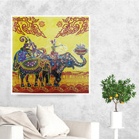 Half Drill Elephant Diamond Painting Kits HD90062