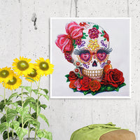 Half Drill Skull Diamond Painting Kits HD90066