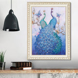 Half Drill Peacock Diamond Painting Kits HD90086