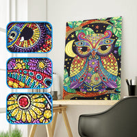 Half Drill Owl Diamond Painting Kits HD90097