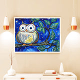 Half Drill Owl Diamond Painting Kits HD90099