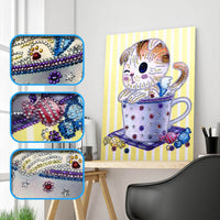 Half Drill Cat Diamond Painting Kits HD90104