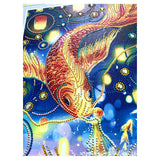 Half Drill Gold Fish Diamond Painting Kits HD90163
