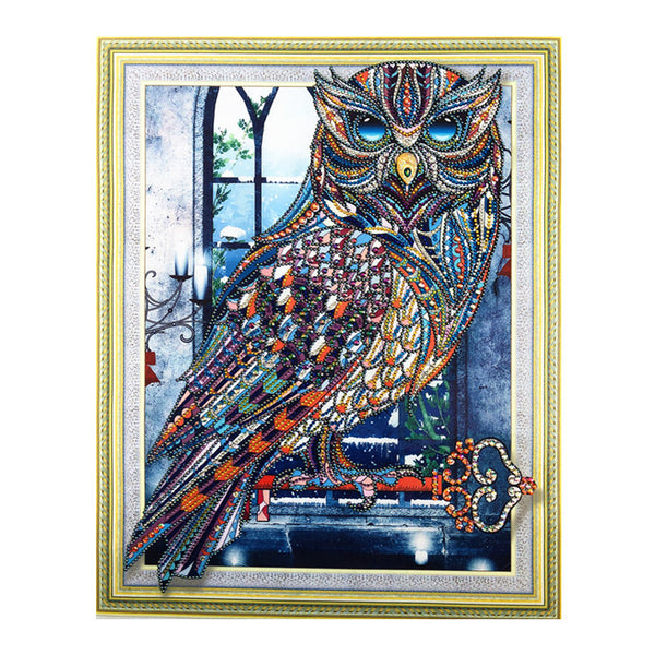Half Drill Owl Diamond Painting Kits HD90168