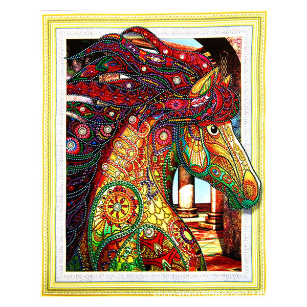 Half Drill Horse Diamond Painting Kits HD90174