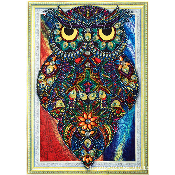 Half Drill Owl Diamond Painting Kits HD90176