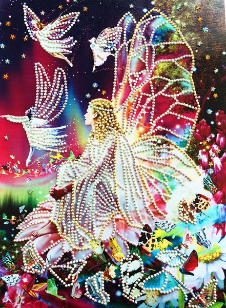 Half Drill Flower Fairy Diamond Painting Kits HD90178