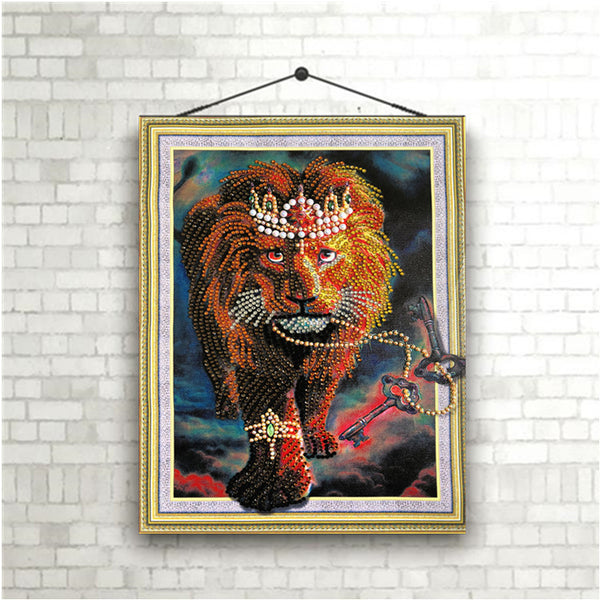 Half Drill Lion Diamond Painting Kits HD90180