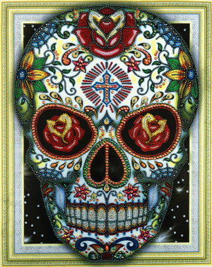 Half Drill Skull Diamond Painting Kits HD90186