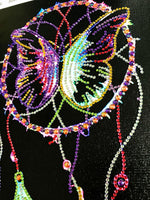 Half Drill Butterfly Dream Catcher Diamond Painting Kits HD90187