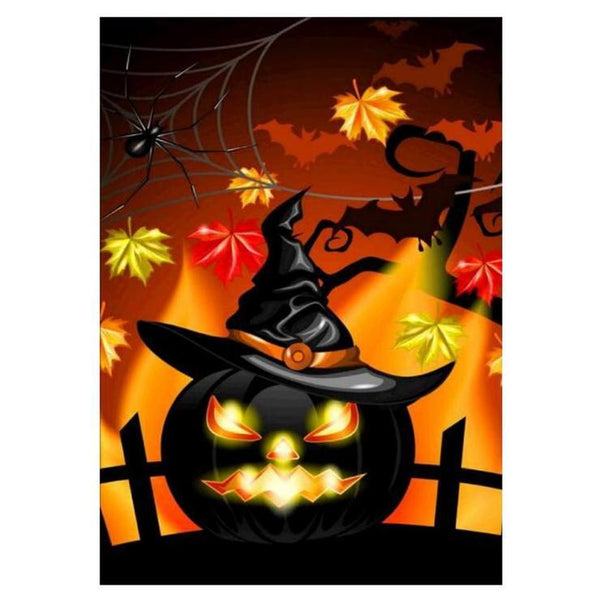 5d Diy Diamond Painting Kits Cartoon Halloween Pumpkin VM8735