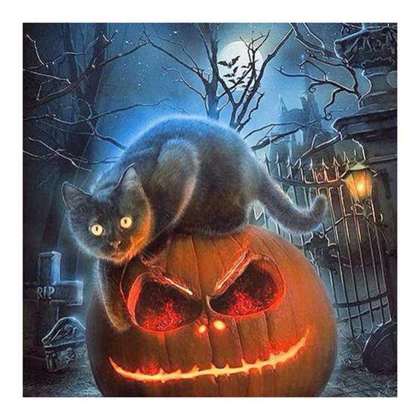 New Halloween Pumpkin 5d Diy Cross Stitch Diamond Painting Kits VM8742