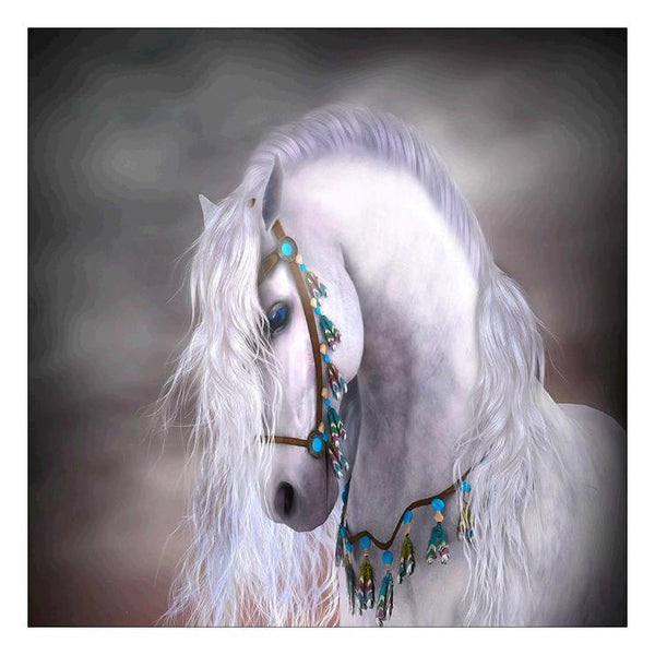 Hot Sale Romantic white Horse Diamond Painting Kits AF9160