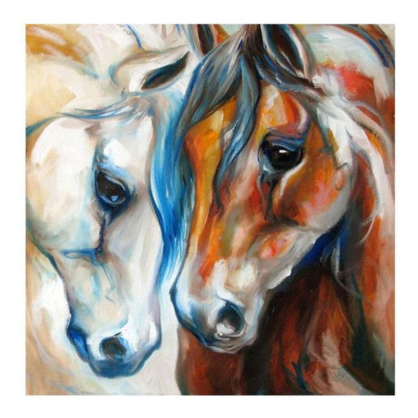 5D DIY Diamond Painting Kits Sweet Oil Painting Styles Horse AF9162