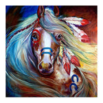 Cheap Oil Painting Styles Colorful Horse Diamond Painting Kits AF9172
