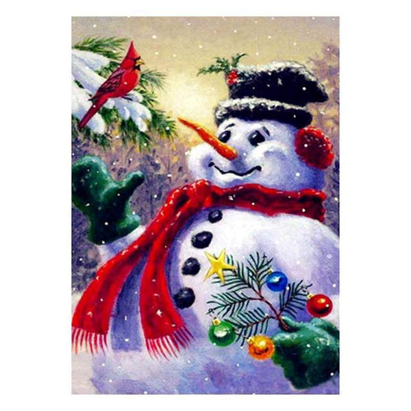 Hot Sale Cartoon Style Snowman 5d DIY Diamond Painting Kits QB8005