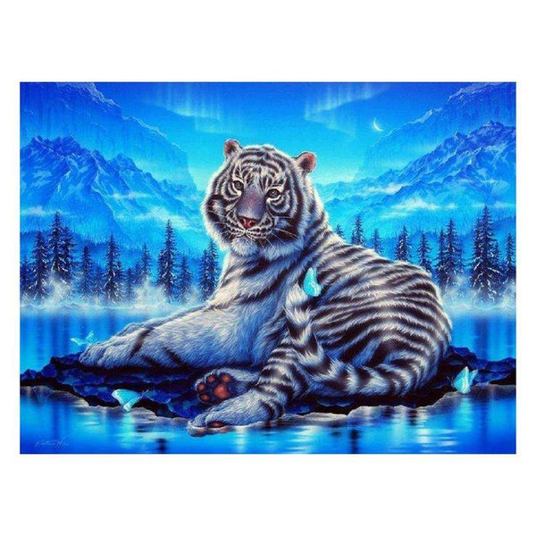 Hot Sale Dream Animal Tiger 5d Cross Stitch Diy Painting By Crystal Kits QB5104