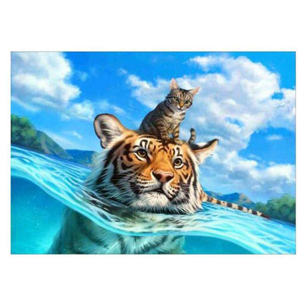 Hot Sale Dream Animal Tiger 5d Cross Stitch Diy Painting By Crystal Kits QB5106