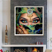 Hot Sale Dream Masked Beauty Eyes 5d Diy Diamond Painting Kits VM8390