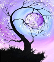 Hot Sale Dream Moon Tree 5d Diy Diamond Painting Kits VM94120