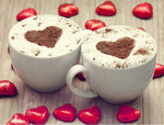 Hot Sale Heart Coffee Cup 5d Diy Cross Stitch Diamond Painting Kits NA0988