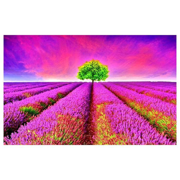 Hot Sale Nature Lavender Pattern 5d Diy Cross Stitch Diamond Painting Kits QB7125