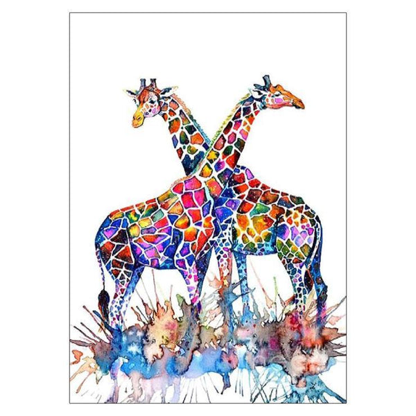 Hot Sale Watercolor Giraffe 5d DIY Diamond Painting Kits QB8003