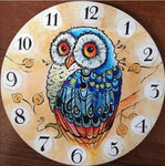 Hot Sale Owl Clock 5d Diy Embroidery Cross Stitch Diamond Painting Kits NB0188
