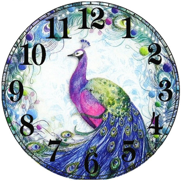 Hot Sale Peacock Clock 5D DIY Embroidery Cross Stitch Diamond Painting Kits NB0163