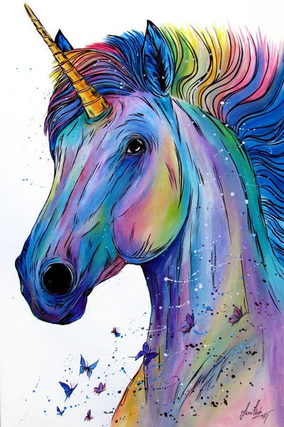Hot Sale Dream Unicorn 5d Diy Diamond Line Painting Kits VM3517 (1766993789018)