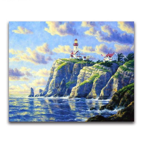 2019 5d Diy Diamond Painting Kits Oil Painting Style Lighthouse VM20228