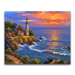 2019 5d Diamond Painting Kits Oil Painting Style Lighthouse VM20223