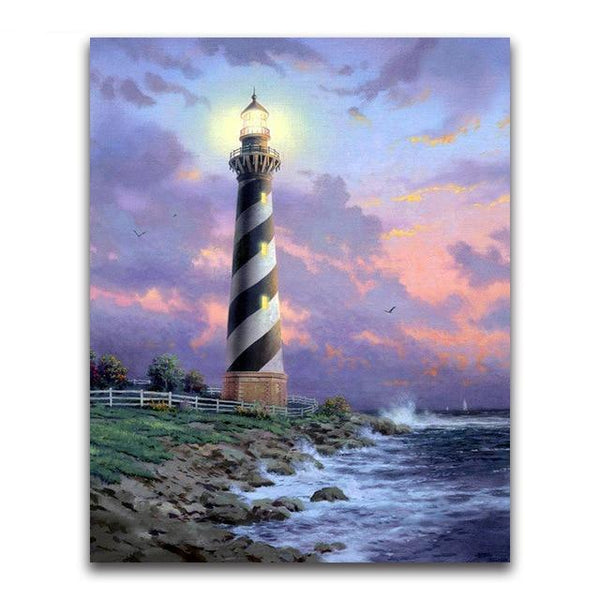 2019 5d Diamond Painting Kits Oil Painting Style Lighthouse VM20209