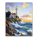 2019 5d Diamond Painting Kits Oil Painting Style Lighthouse VM20211