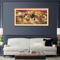Large Size Elephant Picture Embroidery 5D DIY Full Diamond Painting QB8052