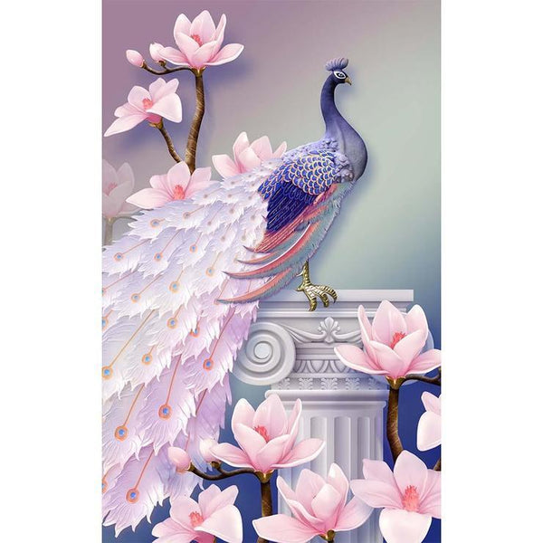Cheap Pink Peacock 5d Diy Diamond Painting Kits AF9088