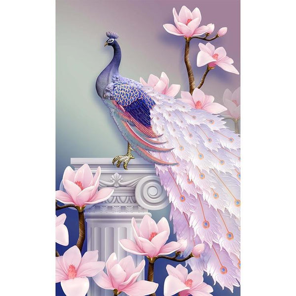 Cheap Pink Peacock 5d Diy Diamond Painting Kits AF9089
