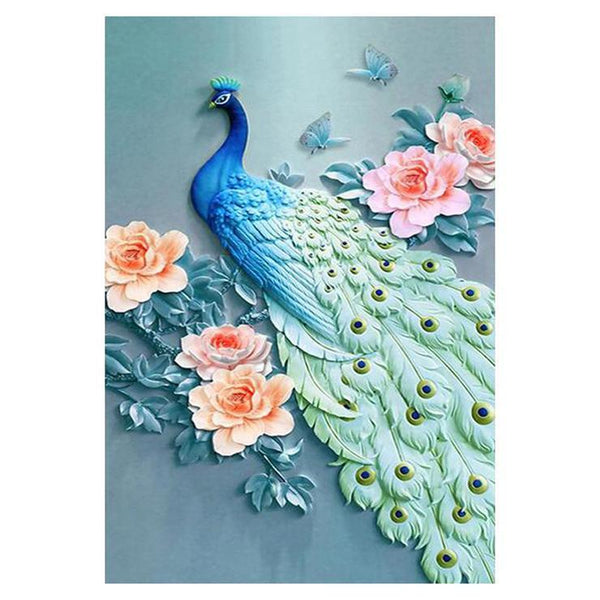 Cheap Hot Sale Anaglyph effect Peacock 5d Diy Diamond Painting Kits AF9095