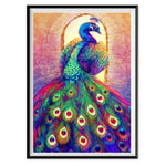 Cheap Oil Painting Styles Colorful Peacock 5d Diy Diamond Painting Kits AF9098